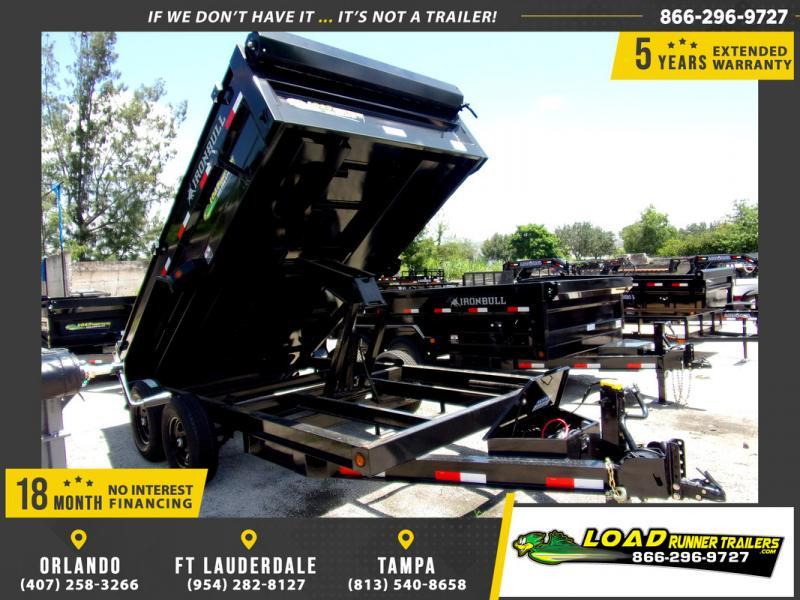 *110258* 7x14 Dump Trailer |LRT Tandem Axle Trailers 7 x 14