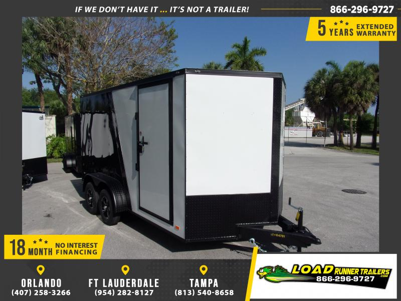 *E8B* 7x14 Enclosed Cargo Trailer |LRT Tandem Axle Trailers 7 x 14 | EV7-14T3-R