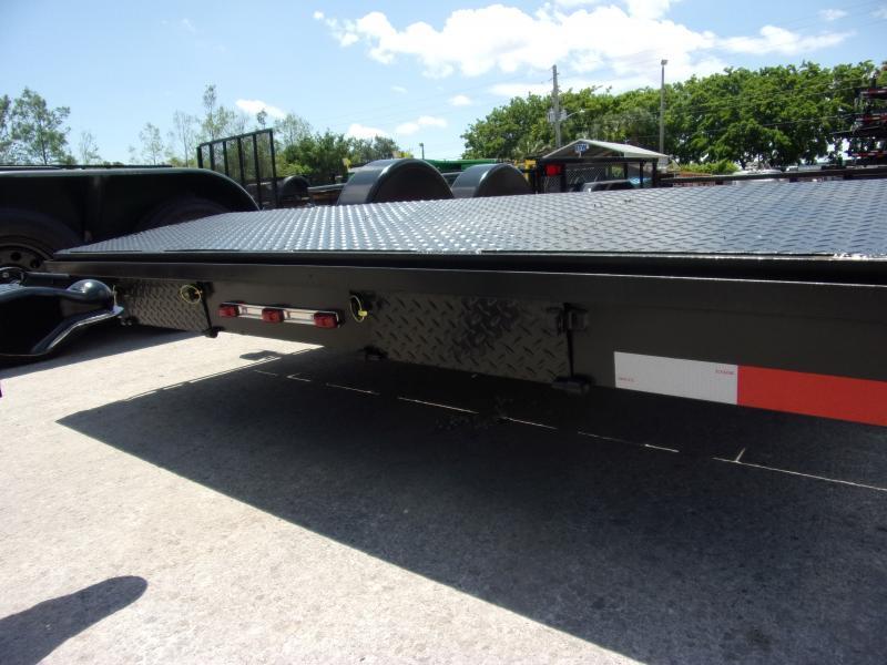 *115126* 7x18 Car Trailer  LRT Tandem Axle Trailers 7 x 18