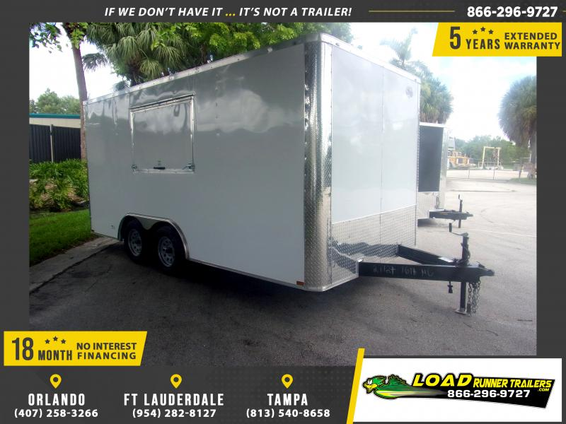 *116978* 8.5x16 Enclosed Cargo Concession Trailer 8.5 x 16