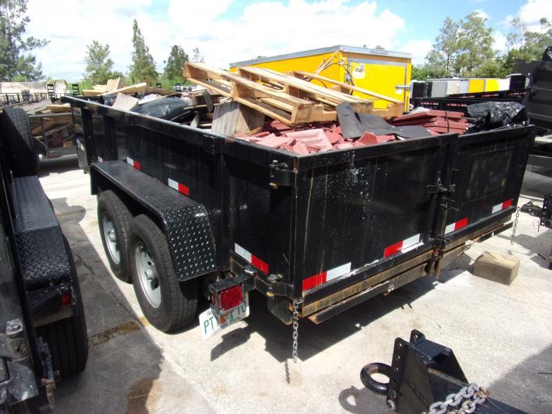 *117713* 7x14 Dump Trailer |LRT Tandem Axle Trailers 7 x 14