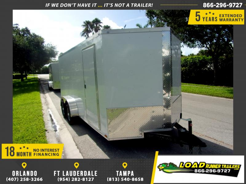*114922* 7x16 Enclosed Cargo Trailer |LRT Tandem Axle Trailers 7 x 16