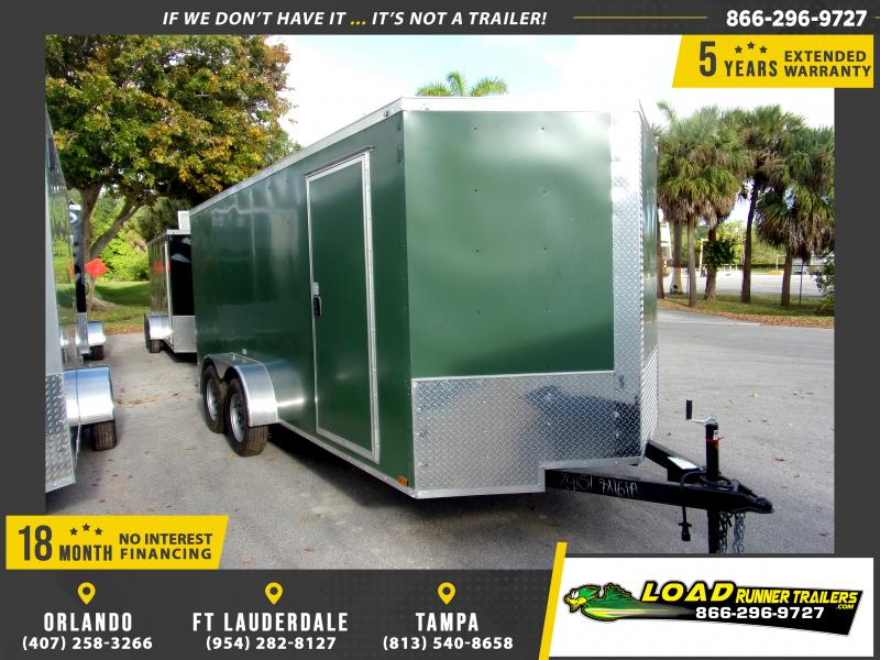 *114555* 7x16 Enclosed Cargo Trailer |LRT Tandem Axle Trailers 7 x 16