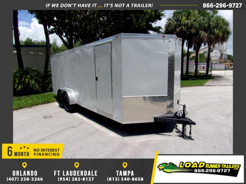 *116327* 7x20 Enclosed Cargo Trailer W/Double Doors|Barn Doors 7 x 20