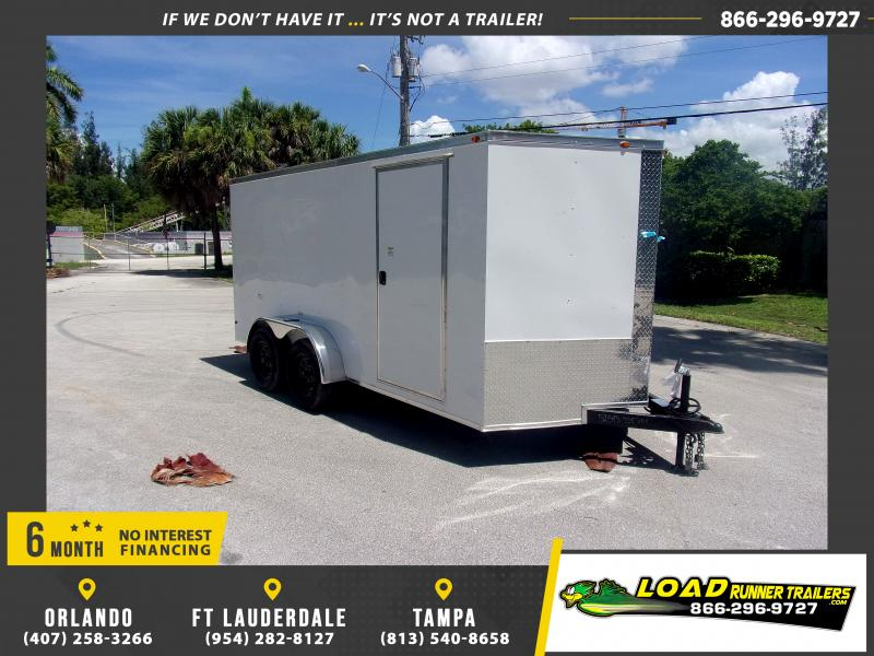 *116552* 7x14 Enclosed Cargo Trailer |LRT Tandem Axle Trailers 7 x 14