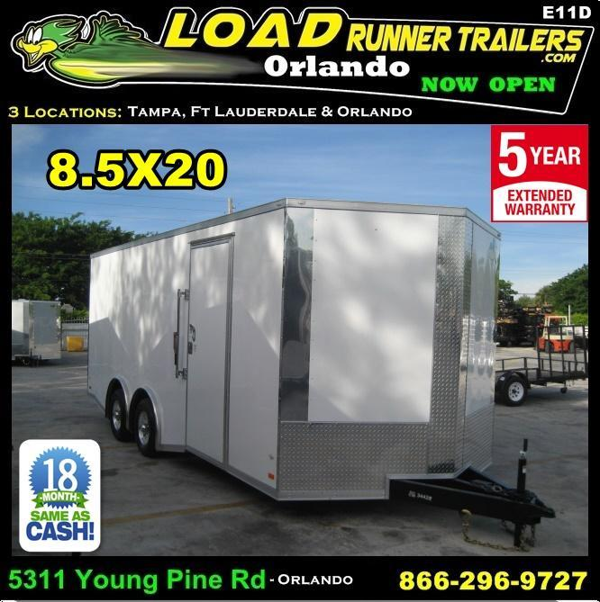 *E11D* 8.5x20 Enclosed Cargo Trailer Car Haulers & Trailers 8.5 x 20 | EV8.5-20T5-R