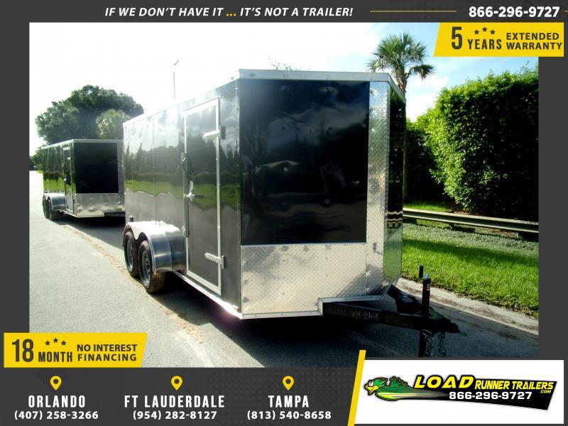 *114589* 7x14 Enclosed Cargo Trailer  LRT Tandem Axle Trailers 7 x 14