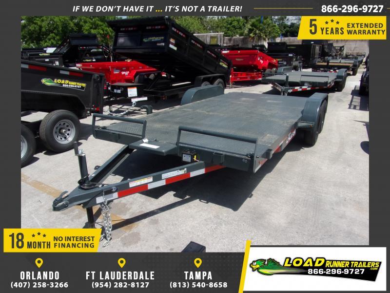 *115060* 7x18 Steel Deck Car Trailer |LRT Trailers & Haulers 7 x 18