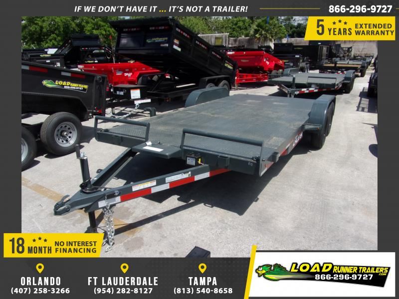 *115060* 7x18 Steel Deck Car Trailer |LRT Trailers & Haulers 7 x 18