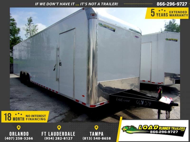 *109663* 8.5x36 Enclosed 2 Car Hauler Cargo Trailer 8.5 x 36