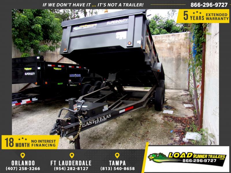 *116857* 7x14 Dump Trailer |LRT Tandem Axle Trailers 7 x 14