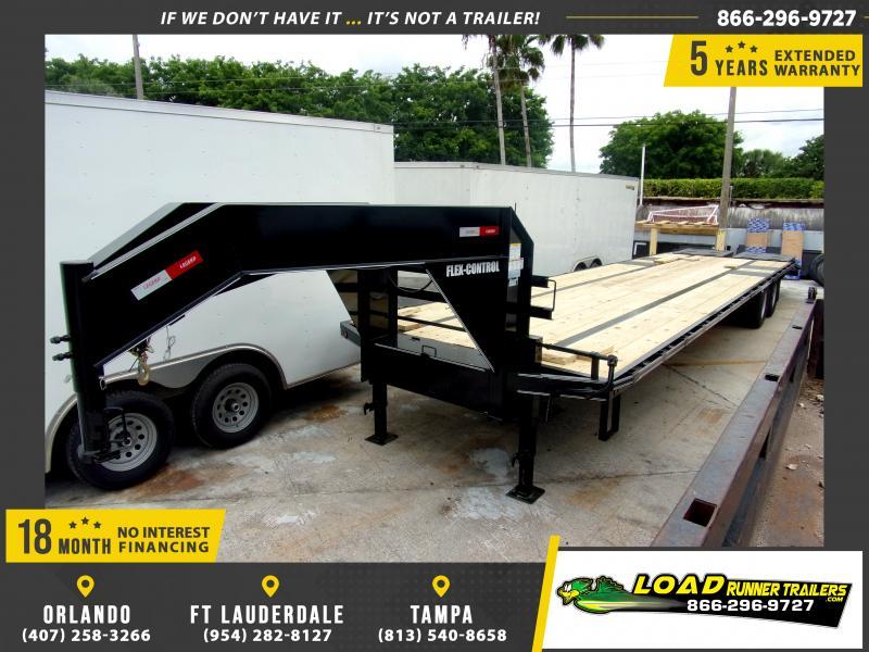 *115923* 8.5x36 Gooseneck Flatbed Deck Over Trailer |LRT Haulers & Trailers 8.5 x 36