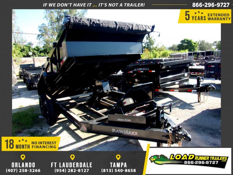 *117352* 7x14 Dump Trailer  LRT Tandem Axle Trailers 7 x 14