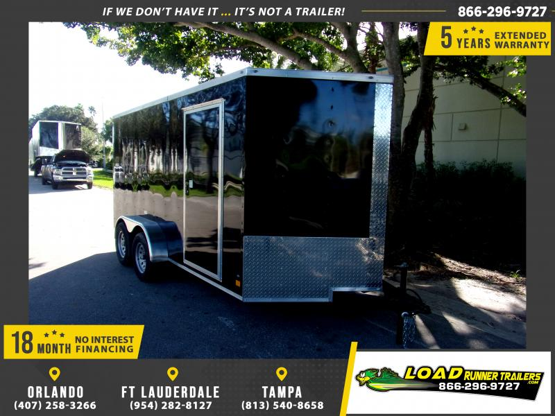 *112438* 7x14 Enclosed Cargo Trailer |LRT Tandem Axle Trailers 7 x 14