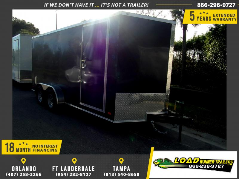 *115006* 7x16 Enclosed Cargo Trailer |LRT Tandem Axle Trailers 7 x 16