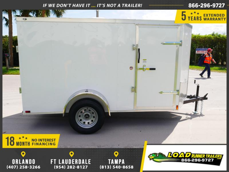 *E2C* 5x10 Cargo Enclosed Trailer LR Catering Cargo 5 x 10 | EV5-10S3-R