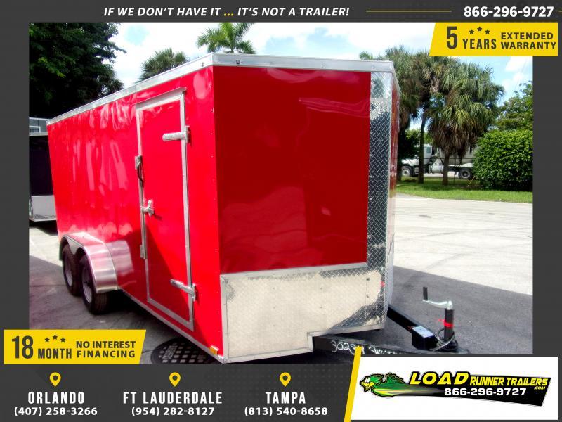 *118022* 7x16 Enclosed Cargo Trailer  LRT Tandem Axle Trailers 7 x 16