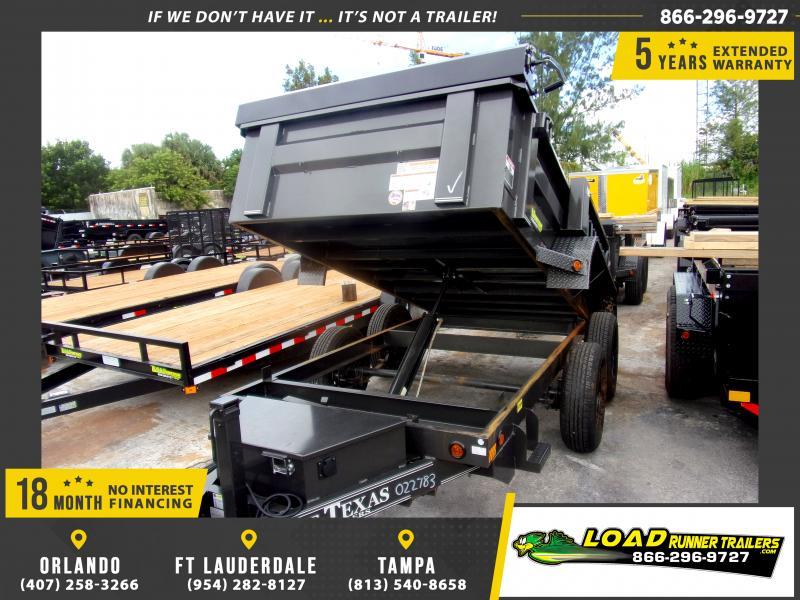 *115242* 5x10 Dump Trailer |LRT Tandem Axle Trailers 5 x 10