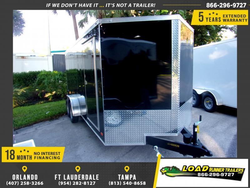 *118132* 7x16 Enclosed Cargo Trailer |LRT Tandem Axle Trailers 7 x 16