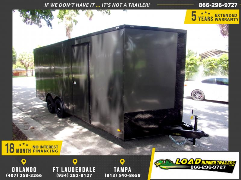 *111348* 8.5x20 Enclosed Cargo Trailer |LRT Tandem Axle Trailers 8.5 x 20