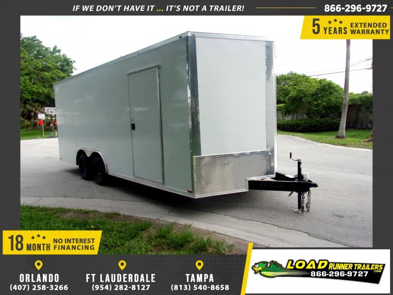 *E11* 8.5x20 Enclosed Cargo Trailer |LRT Tandem Axle Trailers 8.5 x 20 | EV8.5-20T3-R