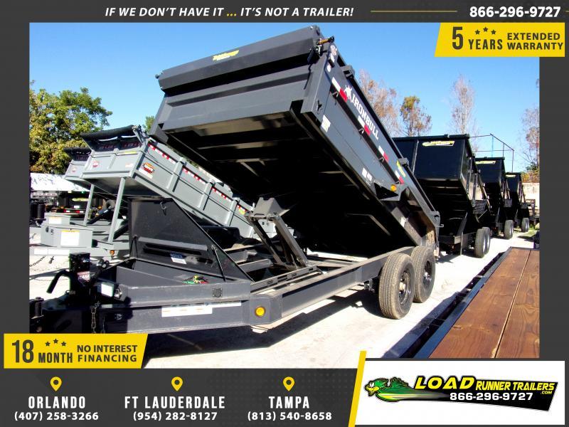 *114862* 7x14 Dump Trailer |LRT Tandem Axle Trailers 7 x 14