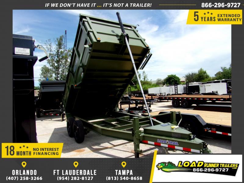 *110837* 7x14 HEAVY DUTY DUMP TRAILER WITH 4' SIDES, 8K AXLES & 16 PLY TIRES 7 x 14