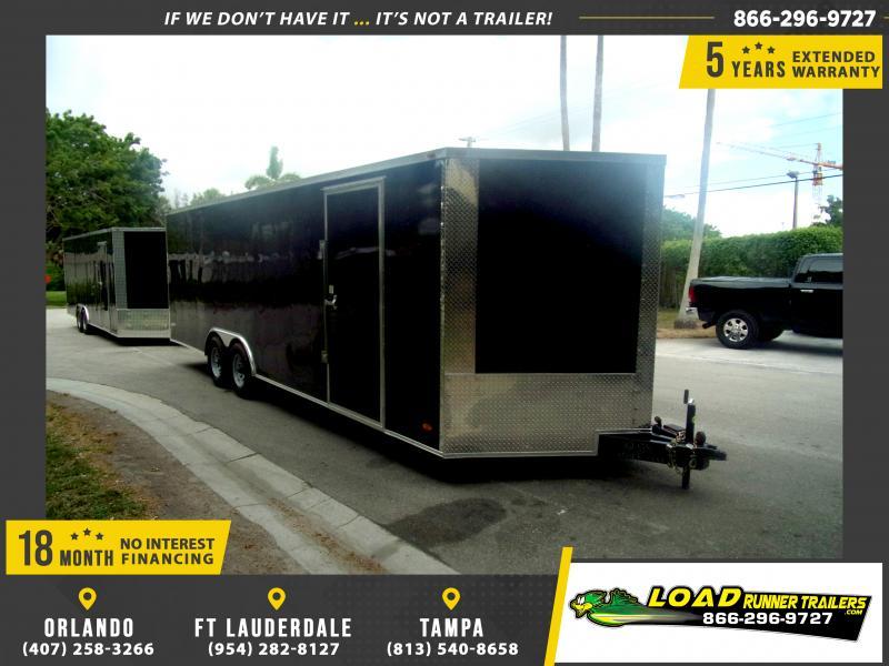 *116324* 8.5x24 Enclosed Cargo Trailer  LRT Tandem Axle Trailers 8.5 x 24