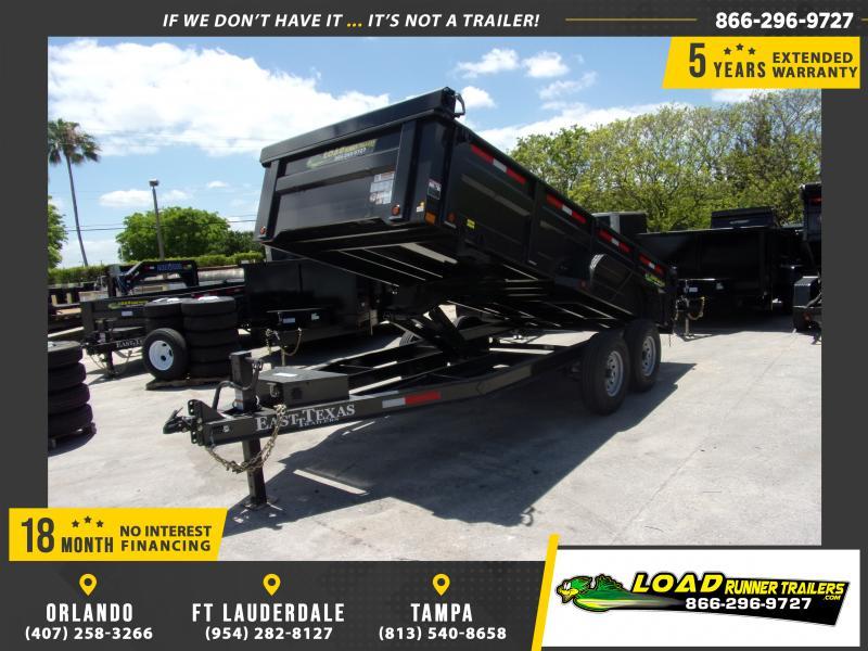 *114975* 7x16 Dump Trailer |LRT Tandem Axle Trailers 7 x 16