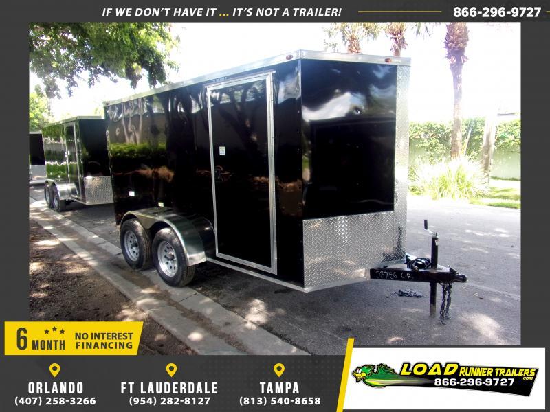 *117617* 6x12 Enclosed Cargo Trailer |LRT Tandem Axle Trailers 6 x 12