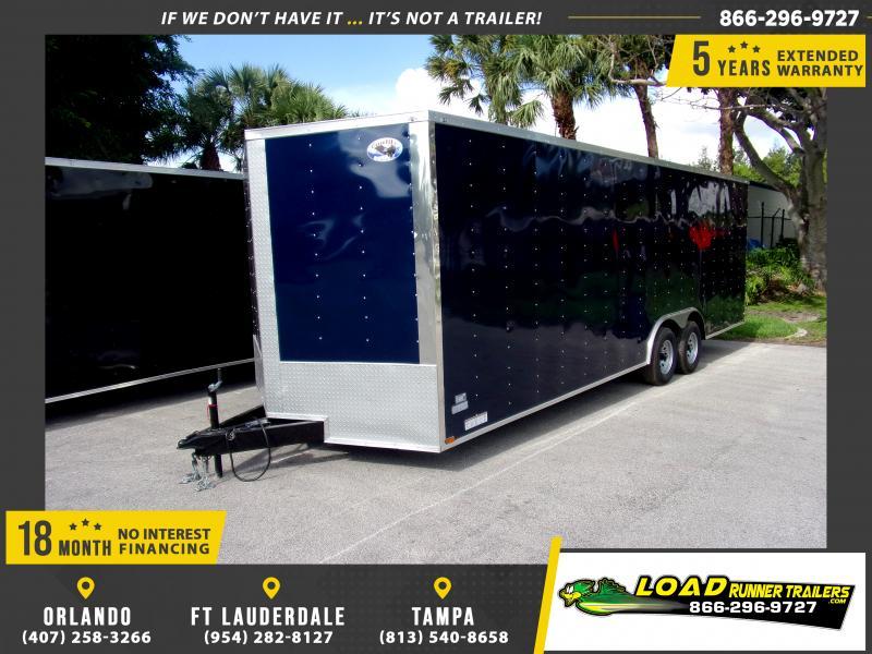 *117295* 8.5x24 Enclosed Cargo Trailer  LRT Tandem Axle Trailers 8.5 x 24