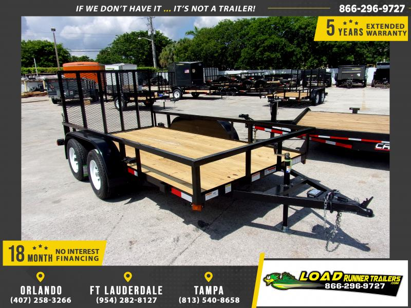 *116680* 6x12 Tandem Axle Utility Trailer With Brakes 6 x 12