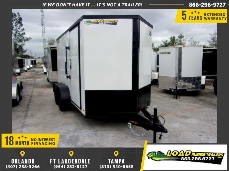*112572* 6x12 Enclosed Cargo Trailer |LRT Tandem Axle Trailers 6 x 12