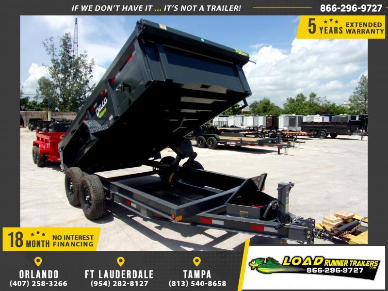 *116422* 7x14 Dump Trailer  LRT Tandem Axle Trailers 7 x 14