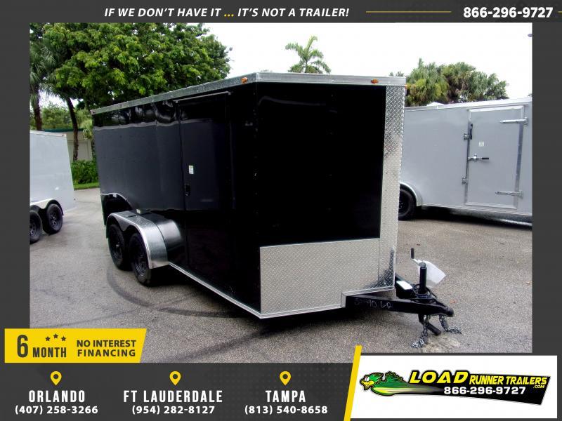 *116809* 7x14 Enclosed Cargo Trailer  LRT Tandem Axle Trailers 7 x 14