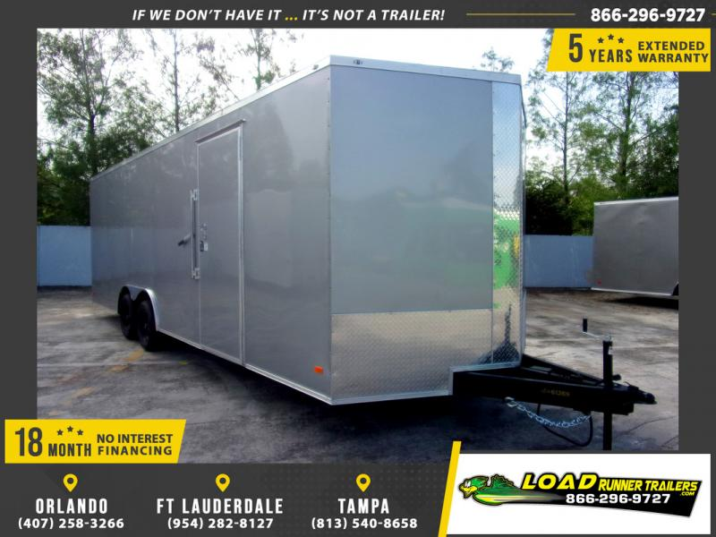 *109858* 8.5x24 Enclosed Cargo Trailer |LRT Tandem Axle Trailers 8.5 x 24
