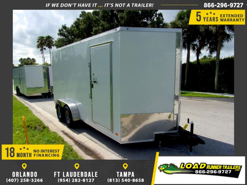 *110336* 7x16 Enclosed Cargo Trailer |LRT Tandem Axle Trailers 7 x 16