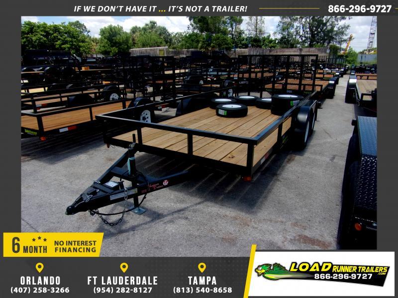 *115413* 7x16 Utility Lawn ATV Multipurpose Trailer  LRT Tandem Axle Trailers 7 x 16