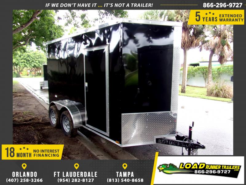 *117337* 6x12 Enclosed Cargo Trailer |LRT Tandem Axle Trailers 6 x 12