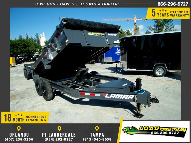 *117264* 7x14 Dump Trailer |LRT Tandem Axle Trailers 7 x 14