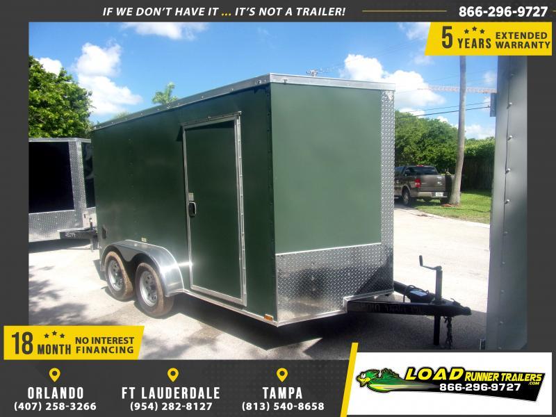 *116973* 7x12 Enclosed Cargo Trailer |LRT Tandem Axle Trailers 7 x 12