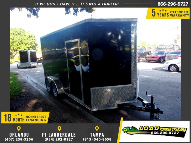 *117613* 7x14 Enclosed Cargo Trailer |LRT Tandem Axle Trailers 7 x 14