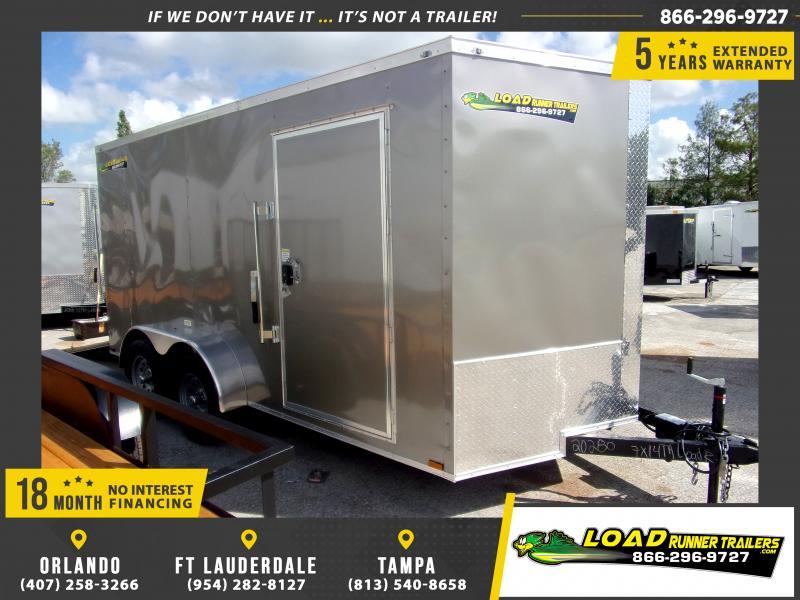 *112097* 7x14 Enclosed Cargo Trailer |LRT Tandem Axle Trailers 7 x 14