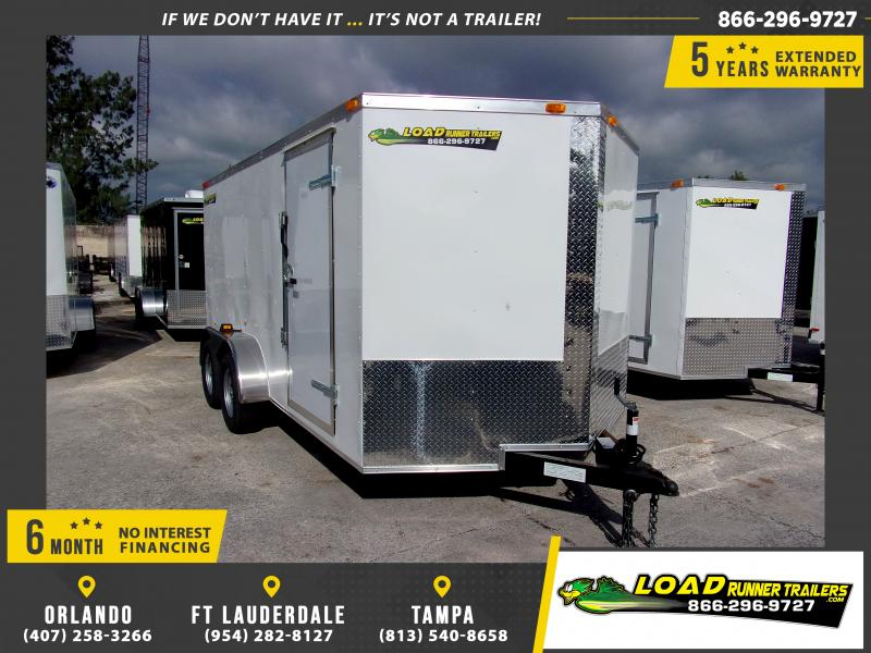 *115202* 7x14 Enclosed Cargo Trailer |LRT Tandem Axle Trailers 7 x 14
