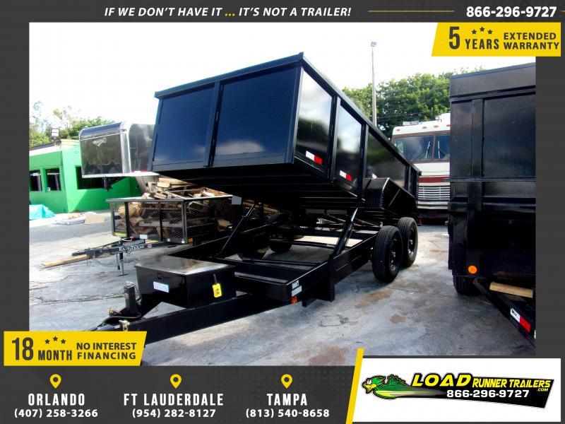 *118006* 7x14 Dump Trailer |LRT Tandem Axle Trailers 7 x 14
