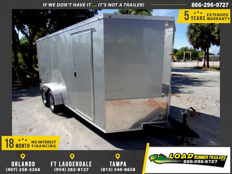 *114543* 7x16 Enclosed Cargo Trailer |LRT Tandem Axle Trailers 7 x 16