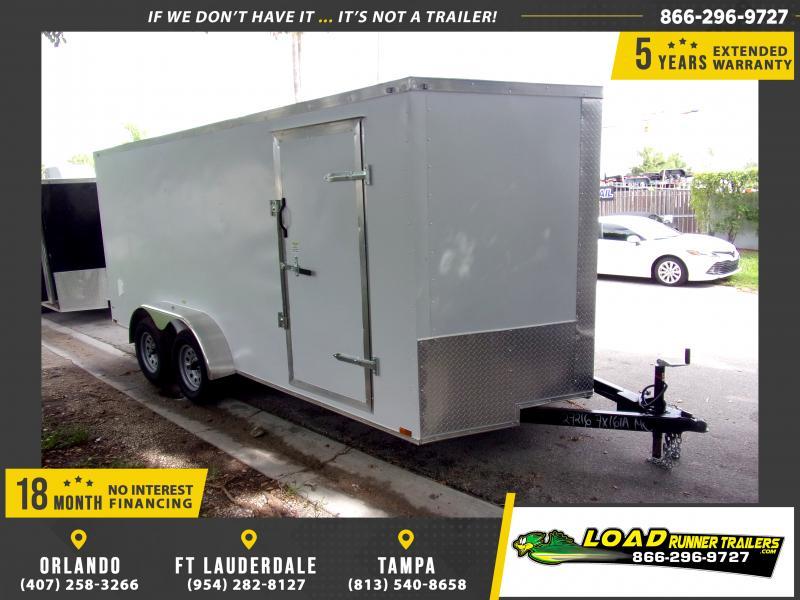 *118019* 7x16 Enclosed Cargo Trailer  LRT Tandem Axle Trailers 7 x 16