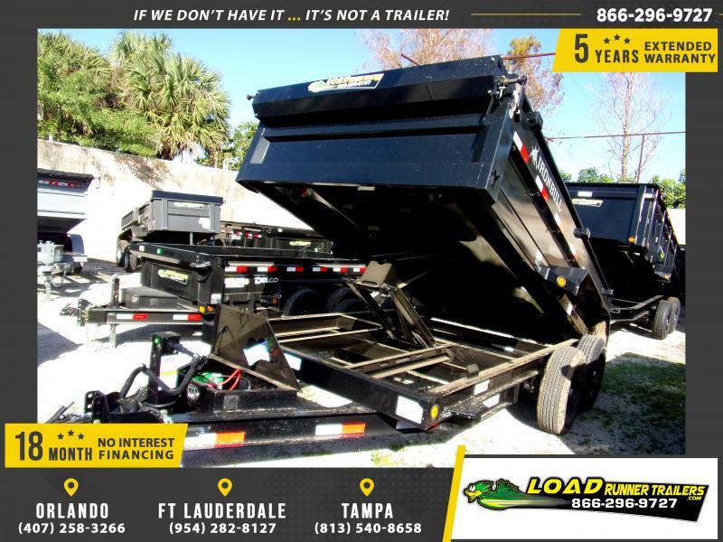 *113402* 7x14 Dump Trailer |LRT Tandem Axle Trailers 7 x 14