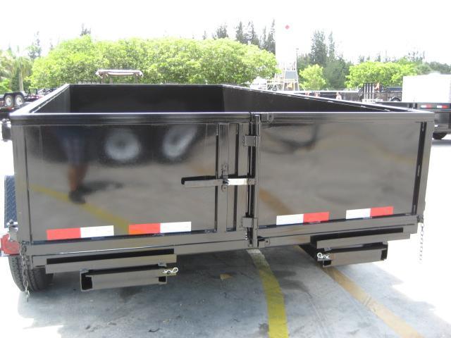 *DB55B* 7x14 7 TON Twin Piston Dump Trailer LRT Trailers 7 x 14   D82-14T7-24S