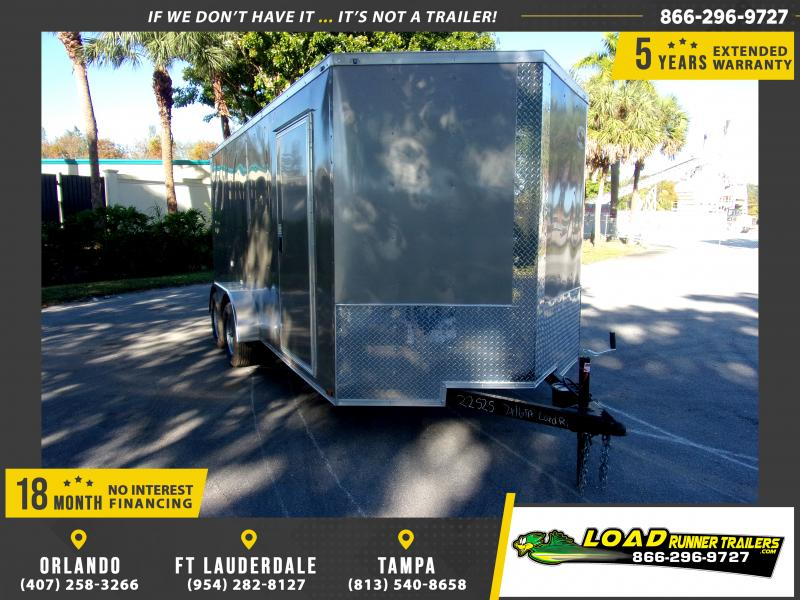 *113303* 7x16 Enclosed Cargo Trailer |LRT Tandem Axle Trailers 7 x 16